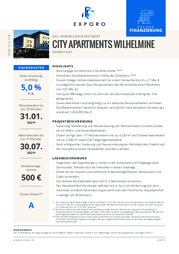 Exporo City Apartments Wilhelmine
